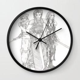 Crisis Core Trio Wall Clock