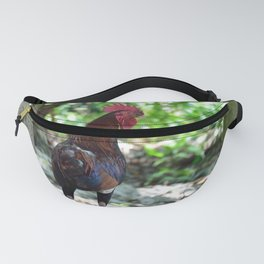 Tropical Beach Photo Rooster Fanny Pack