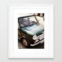 mini Framed Art Prints featuring Mini by Justine Stern