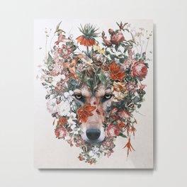 Flower wolf Metal Print