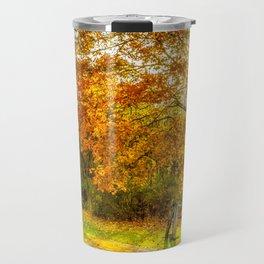 Autumn fence Travel Mug