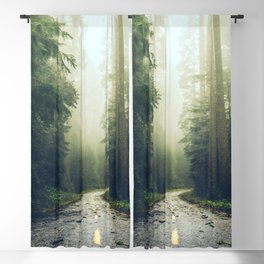 Redwood Forest Adventure - Nature Photography Blackout Curtain