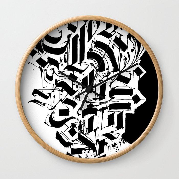 CALLIGRAPHY N°3 ZV Wall Clock
