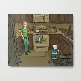 Peaceful Kitchen Metal Print