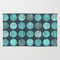 celestial Area & Throw Rugs featuring CELESTIAL BODIES - MIDNIGHT by Daisy Beatrice