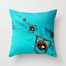 underwater mission in fractal Throw Pillow