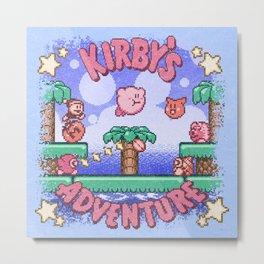 Adventure Kirby Metal Print