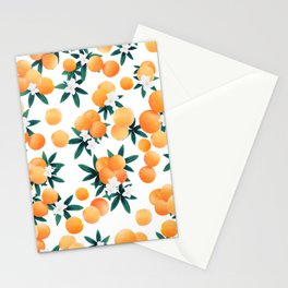 Orange Twist Flower Vibes #6 #tropical #fruit #decor #art #society6 Stationery Cards