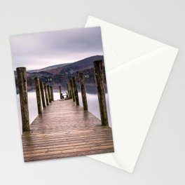 Lake View with Wooden Pier Stationery Cards