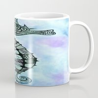 tatoo Mugs featuring Tatoo Seahorse by PepperDsArt