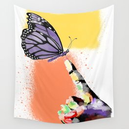 Come here sweet butterfly Wall Tapestry