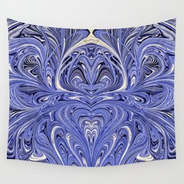 Mirror Blue Oil Gestalt Abstract II Wall Tapestry