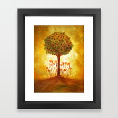 positive energy from the tree Framed Art Print