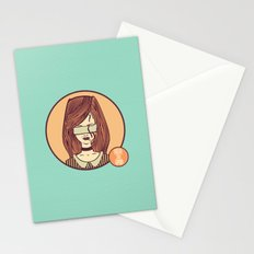 self-portrait (colored) Stationery Cards