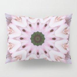 Rose Pink Snowflake Pillow Sham