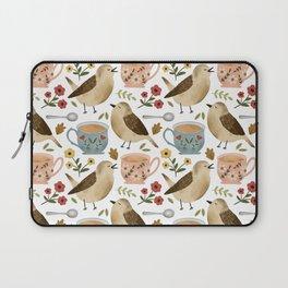 Birds, Teacups, and Flowers Laptop Sleeve