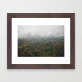 The Magic Mountains of Sapa Framed Art Print