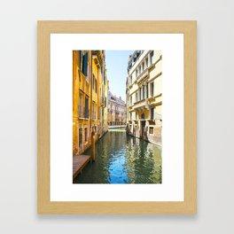 A Gondola Ride through Venice Framed Art Print
