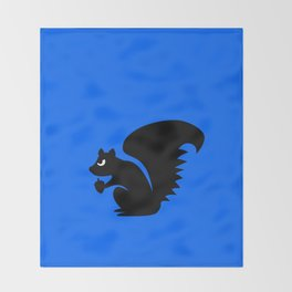 Angry Animals: Squirrel Throw Blanket