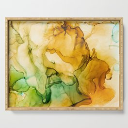 Turning Fall  - Abstract Ink Painting Serving Tray