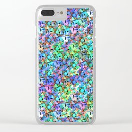 Origami mess Clear iPhone Case