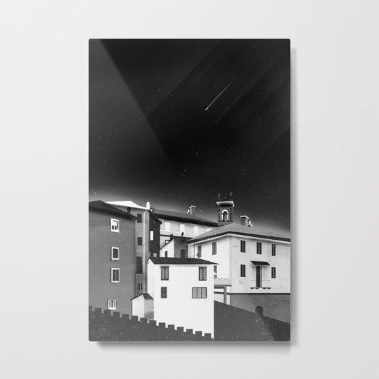 Castles at Night (B&W) Metal Print