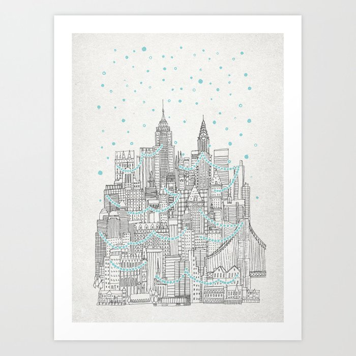 Winter in New York Art Print