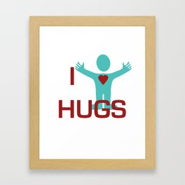 I heart Hugs Framed Art Print