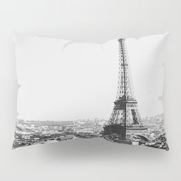 Paris City Sky // Eiffel Tower City Landscape Photography Shot from the top of Champs Elysees France Pillow Sham