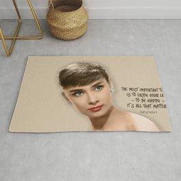 Movie star art - Audrey Hepburn Rug