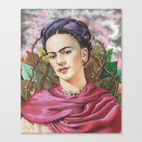 frida Canvas Prints featuring Frida by Mark Satchwill Art