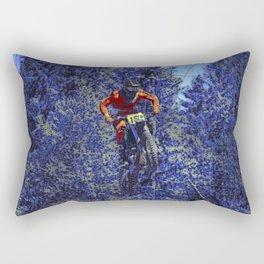 Finish Line Jump - Motocross Racing Champ Rectangular Pillow