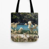 tapestry Tote Bags featuring Tapestry  by aeolia