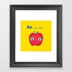 A is for Apple Framed Art Print