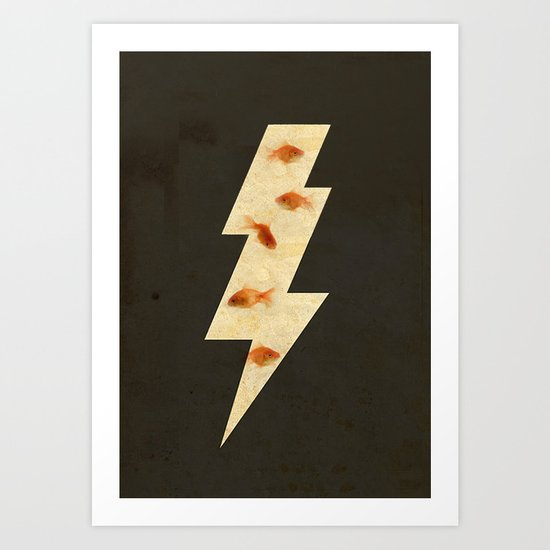 lightning fish Art Print