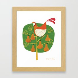 First Day of Christmas Framed Art Print