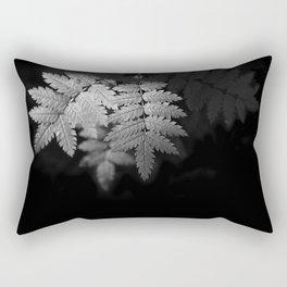 Ferns on Black Rectangular Pillow