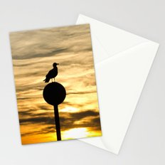 Birds in the sunset Stationery Cards