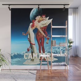Classic Campari Alcoholic Angel & Devil - Earth, Sun, and Stars Aperitif Advertising Vintage Poster Wall Mural