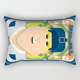 Baseball Blue Pinstripes - Deuce Crackerjack - Hazel version Rectangular Pillow