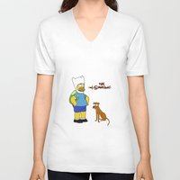simpsons V-neck T-shirts featuring The simpsons Time by Lexatchison