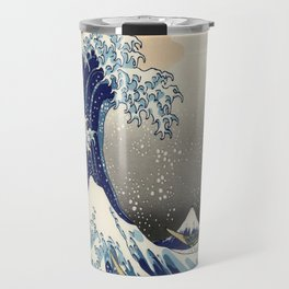 seascape painting japanese ukiyo e art the great wave off kanagawa Travel Mug