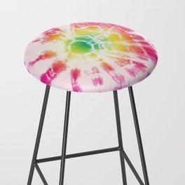 Tie-Dye Sunburst Rainbow Bar Stool