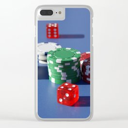Poker Clear iPhone Case