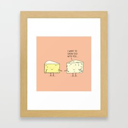 Matured cheese Framed Art Print