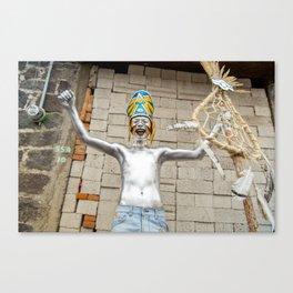 The silver aztec Canvas Print