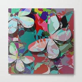 Butterflies abstract Metal Print