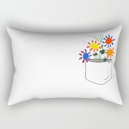 Pablo Picasso Bouquet Of Peace 1958 in a Pocket (Flowers Bouquet With Hands), T Shirt, Artwork Rectangular Pillow