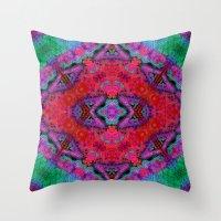 kilim Throw Pillows featuring Digital Kilim by Jellyfishtimes