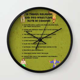 10 Things Religion and Pro-Wrestling Have in Common Wall Clock
